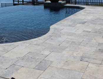 Silver Travertine French Pattern Pavers